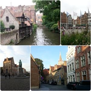 links oben: Love Bridge rechts oben: Markt links unten: Jan van Eyck Plein rechts unten: Seitenstraße